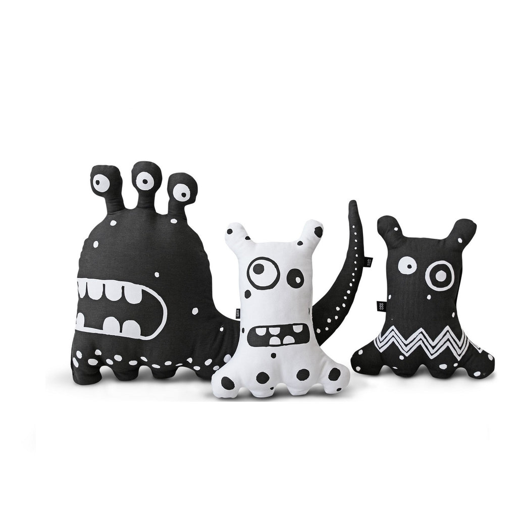 ooh noo - Big-eyed Monster Cushion White