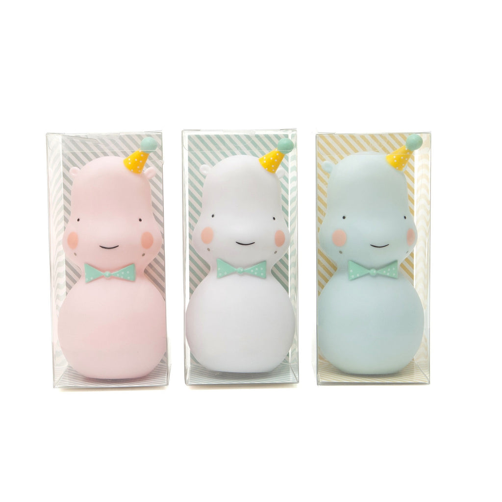 Petit Monkey - Happy Hippo Night Light Pink