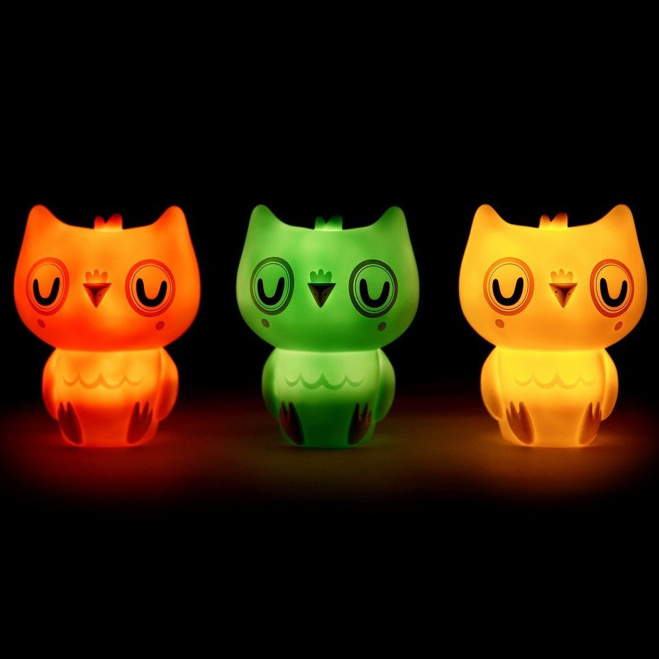 Petit Monkey - Owl Night Light Pink