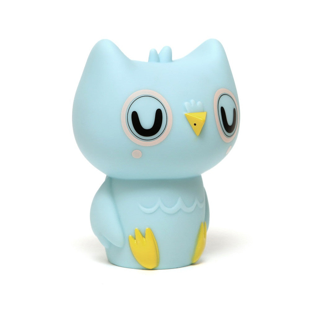 Petit Monkey - Owl Night Light Baby Blue