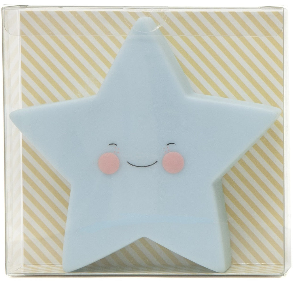 Petit Monkey - Star Night Light Blue