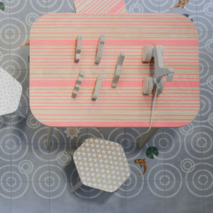 Office Table Pink Lines by Studio delle Alpi - minifili