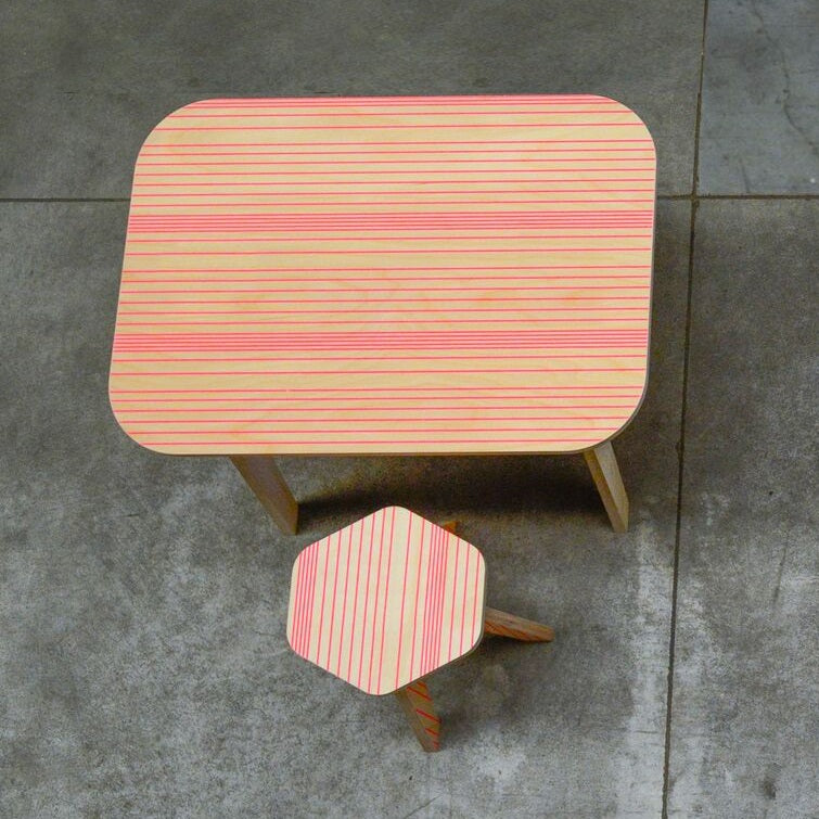 Studio delle Alpi - Office Table Pink Lines