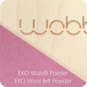 Wobbel Original Transparent Lacquer Pink Felt by Wobbel - minifili