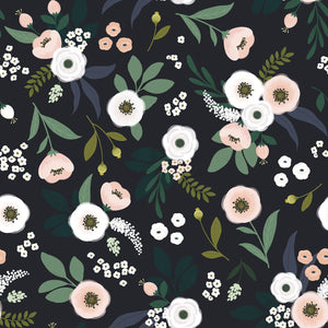 Wonderland Wallpaper Dark Grey by Lilipinso - minifili