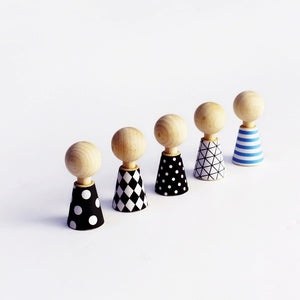 Modern Pebbles Wooden Dolls by Rock&Pebble - minifili