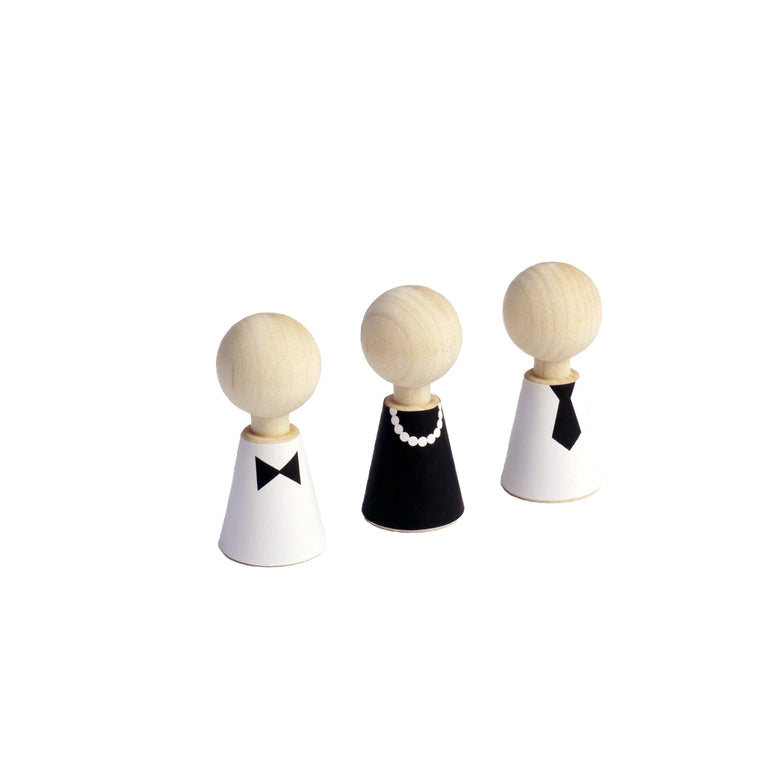 Modern Pebbles Wooden Dolls
