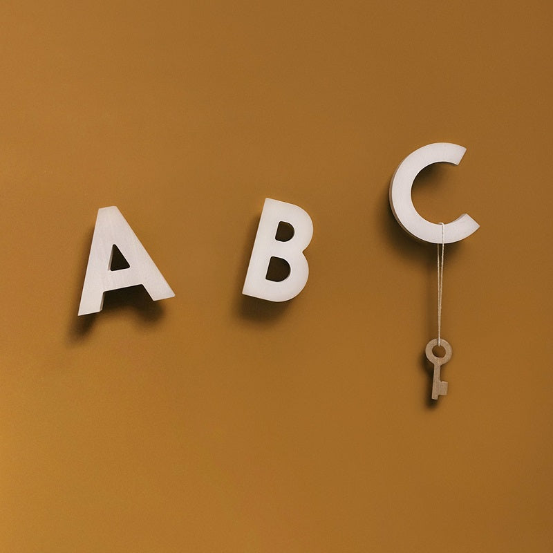 Alphabet Soup Wall Hooks ABC Natural by Rock&Pebble - minifili