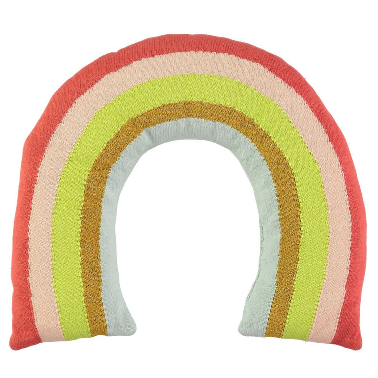 Rainbow Knitted Cushion