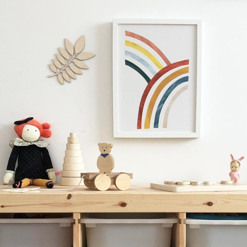 Rainbows Print by Kid of the Village - minifili