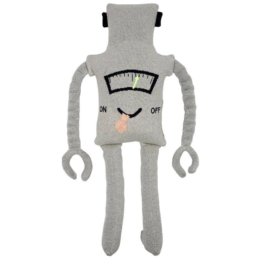 Meri Meri - Knitted Robot Soft Toy Cushion