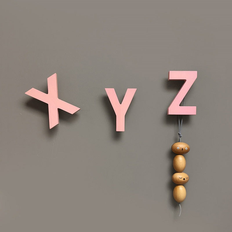 Alphabet Soup Wall Hooks XYZ Rose by Rock&Pebble - minifili