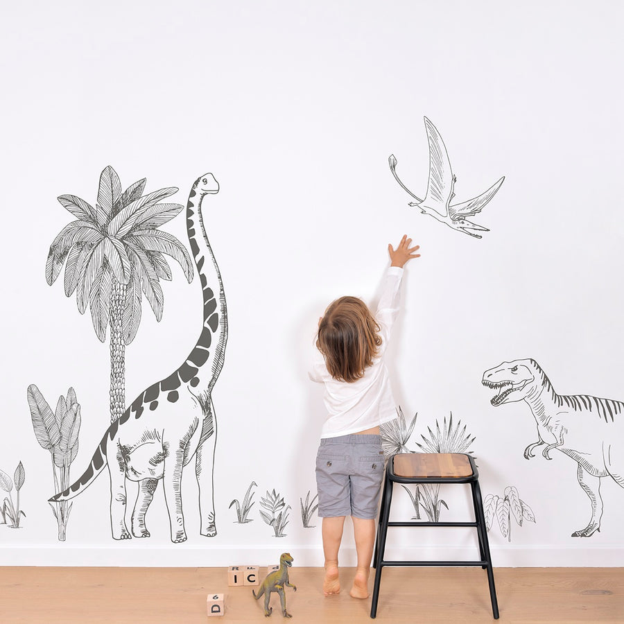 Brontosaurus Giant Wall Sticker by Lilipinso - minifili