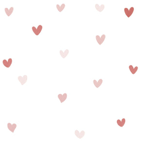 Pink Hearts Wall Decal by Lilipinso - minifili