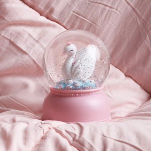 Swan Snow Globe Light by A Little Lovely Company - minifili