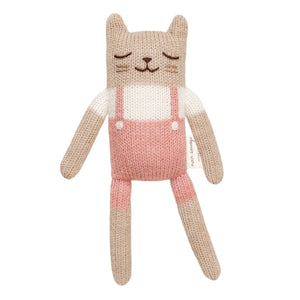 Kitten Soft Toy Pink Overall by Main Sauvage - minifili