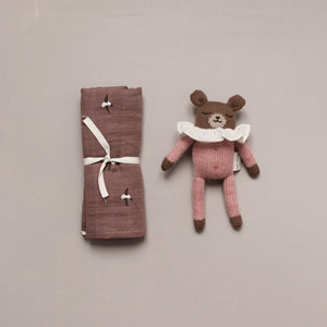 Teddy Soft Toy Pink by Main Sauvage - minifili