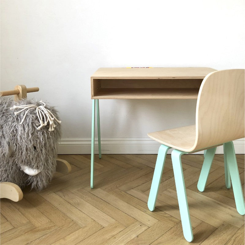 Kids Desk & Chair Small Mint by In2Wood - minifili