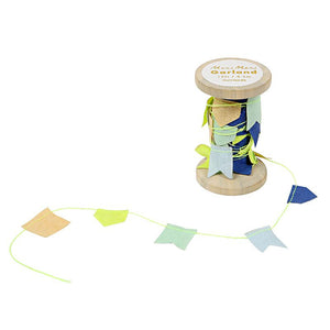 Blue Garland on a Spool by Meri Meri - minifili
