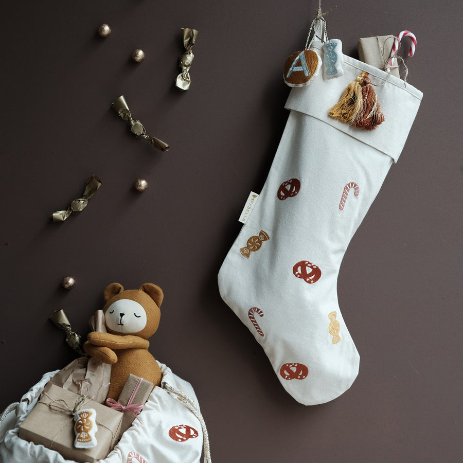 Candy Embroidered Stocking by Fabelab - minifili