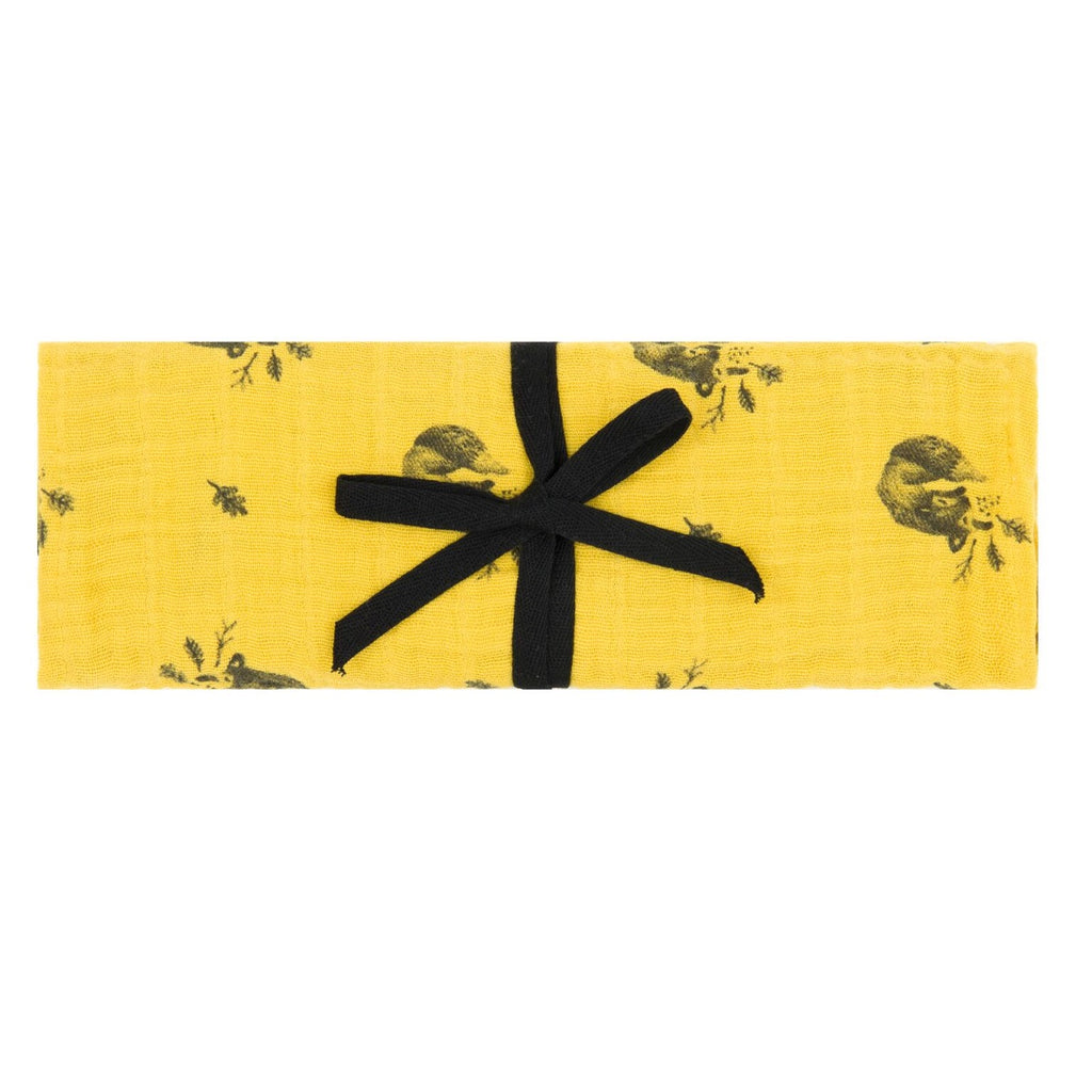 Rose in April - Fox Swaddle Yellow