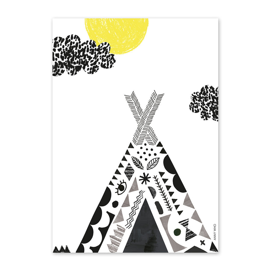 Tipi Print by Anny Who - minifili