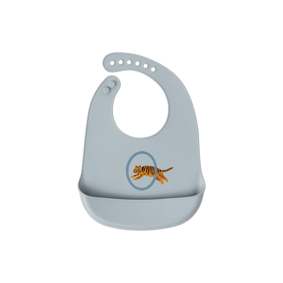 Tiger Silicone Bibs (pack of 2) by OYOY Mini - minifili