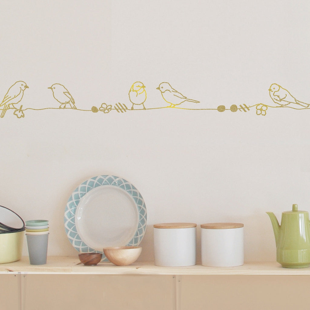 MIMI'lou - Pearls and Birds Wall Decal