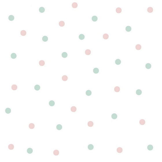 Dots Wall Sticker Mint Pink