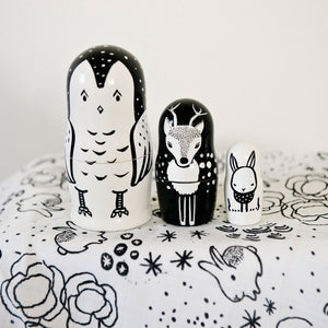 Woodland Creatures Nesting Dolls by Wee Gallery - minifili