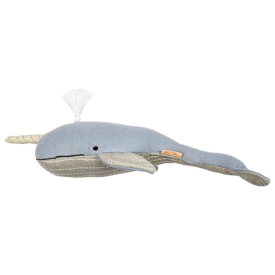 Knitted Narwhal Soft Toy