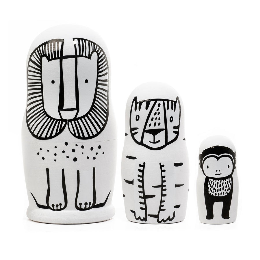 Wild Animals Nesting Dolls by Wee Gallery - minifili