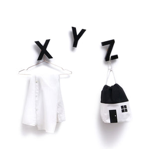 Alphabet Soup Wall Hooks XYZ Black by Rock&Pebble - minifili