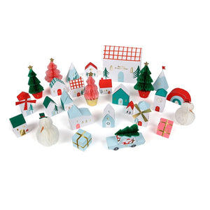 Christmas Honeycomb Advent Village by Meri Meri - minifili