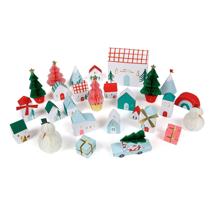 Christmas Honeycomb Advent Village