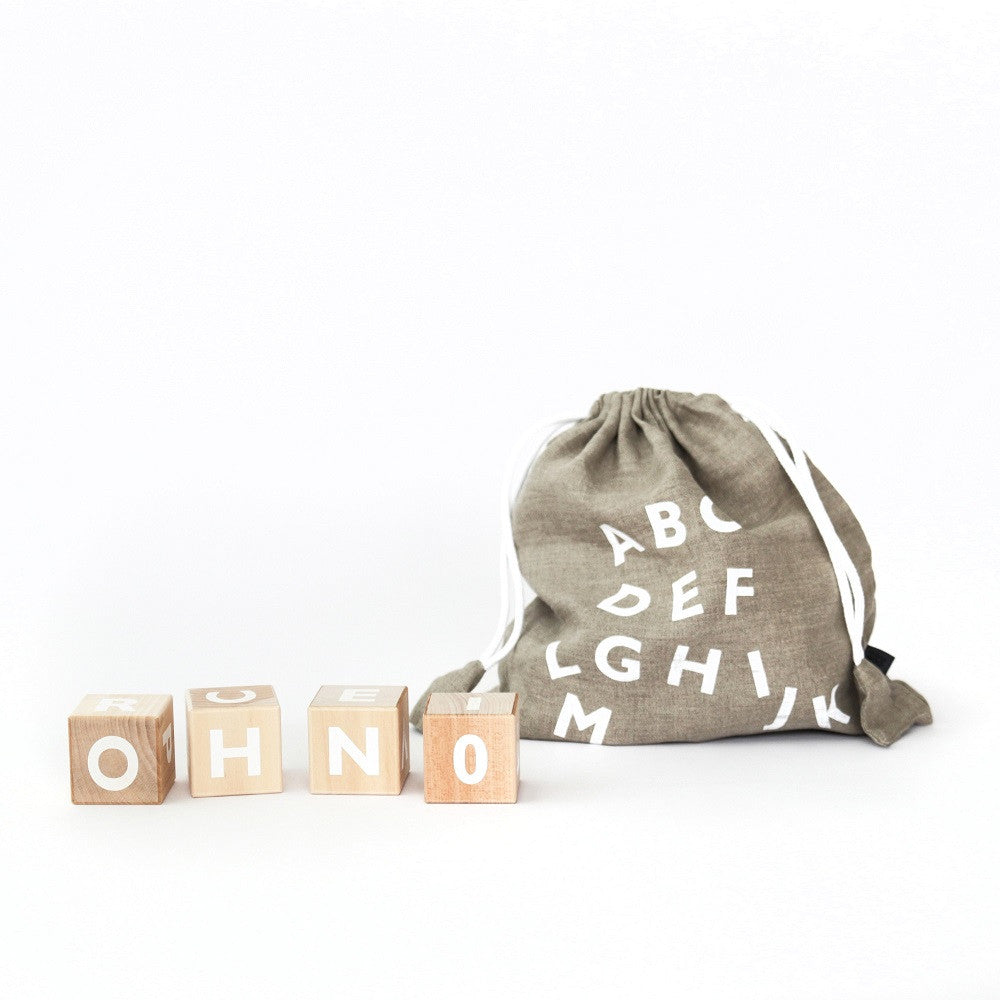 ooh noo - Alphabet Blocks White