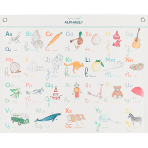 Alphabet Canvas Poster by Les Jolies Planches - minifili