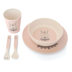 Bamboo Dinner Set Circus Bunny by Eef Lillemor - minifili