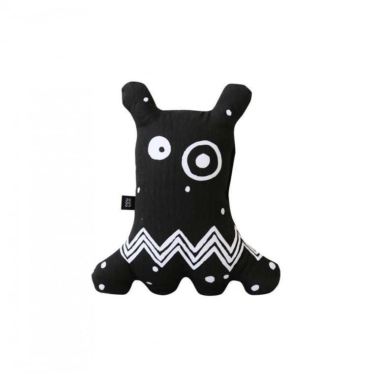 Big-eyed Monster Cushion Black