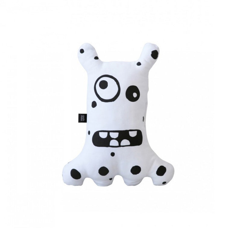 Big-eyed Monster Cushion White