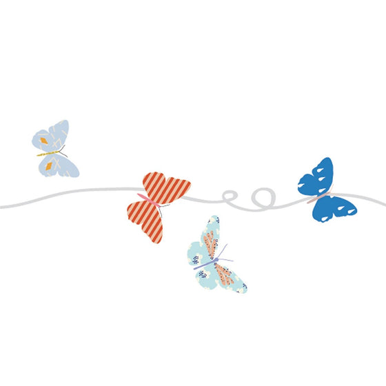 Butterflies Border Wall Decal