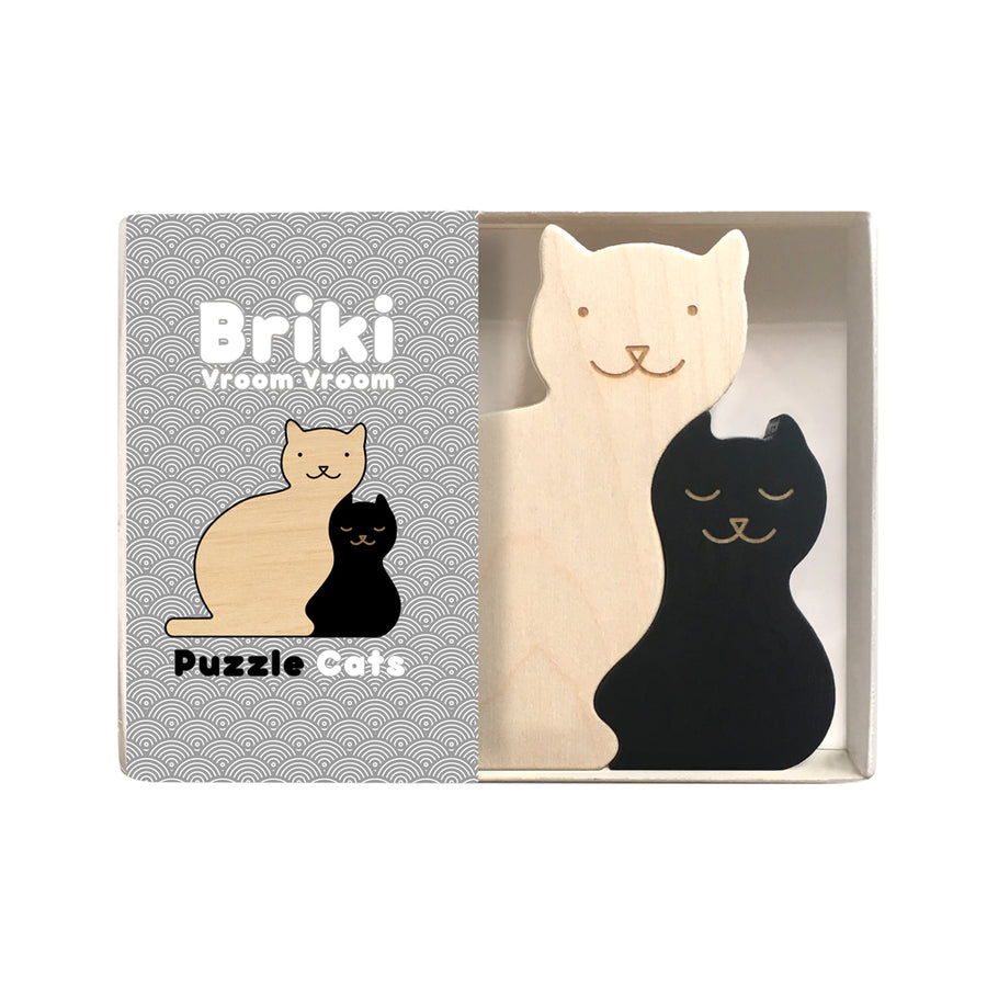 Cats Puzzle Black by Briki Vroom Vroom - minifili