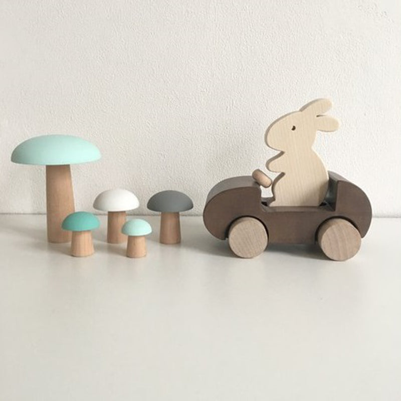 Bunny Car Push Toy Brown by Briki Vroom Vroom - minifili