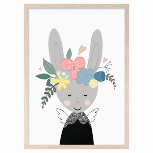 Bunny in Bloom Print by Mini Learners - minifili