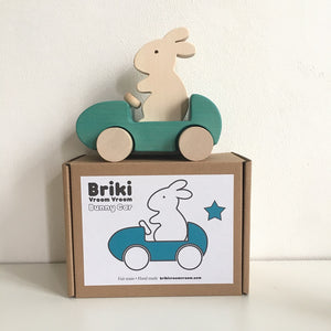Bunny Car Push Toy Green by Briki Vroom Vroom - minifili