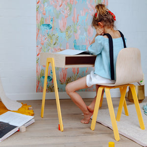 Kids Desk Large Yellow by In2Wood - minifili