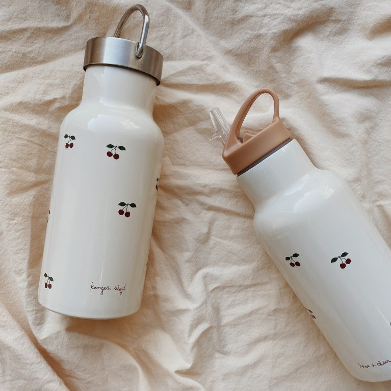 Stainless Steel Water Bottle Cherry by Konges Slojd - minifili
