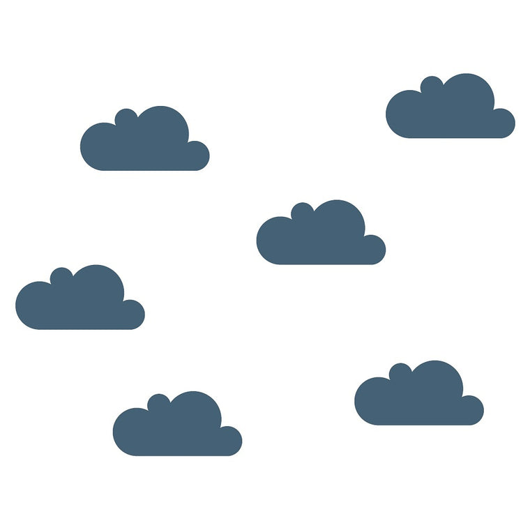 Clouds Wall Sticker Oil Blue