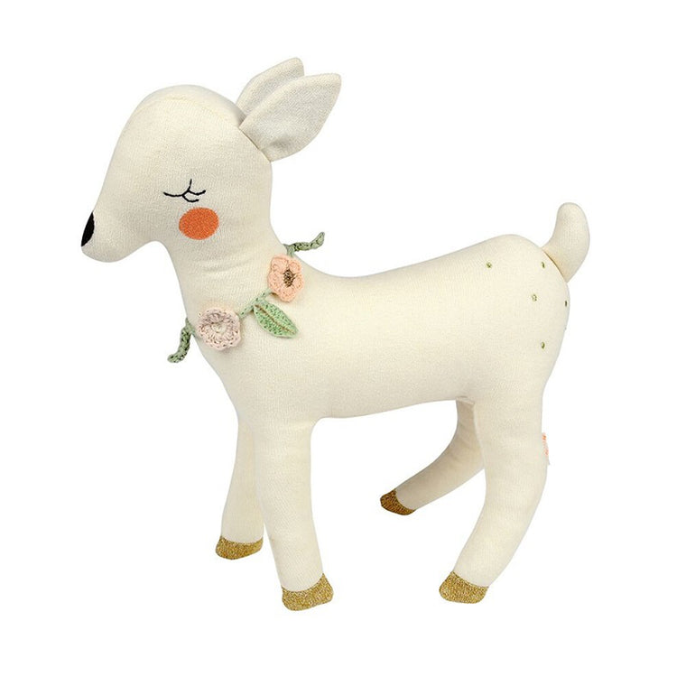 Knitted Deer Soft Toy