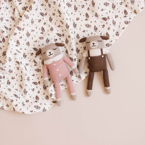 Puppy Rose Jumpsuit Soft Toy by Main Sauvage - minifili